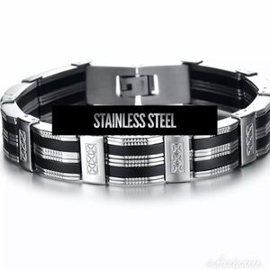 """Other - Men's Stainless Steel Bracelet 8.5"""""""